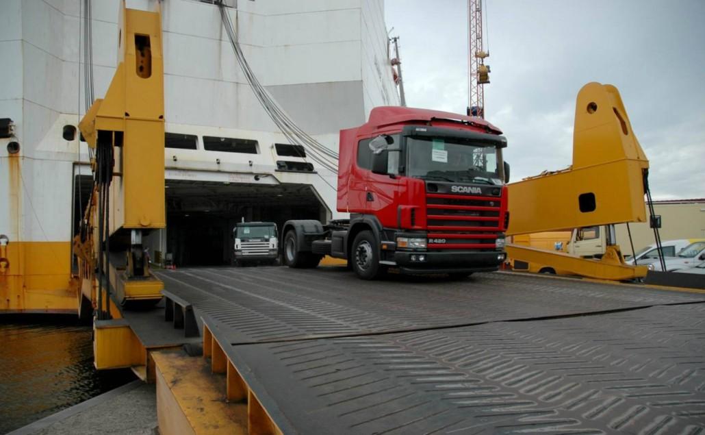 Prom do Irlandii dla ciężarówek
